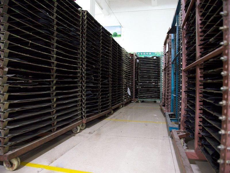 Semi-finished products storage area