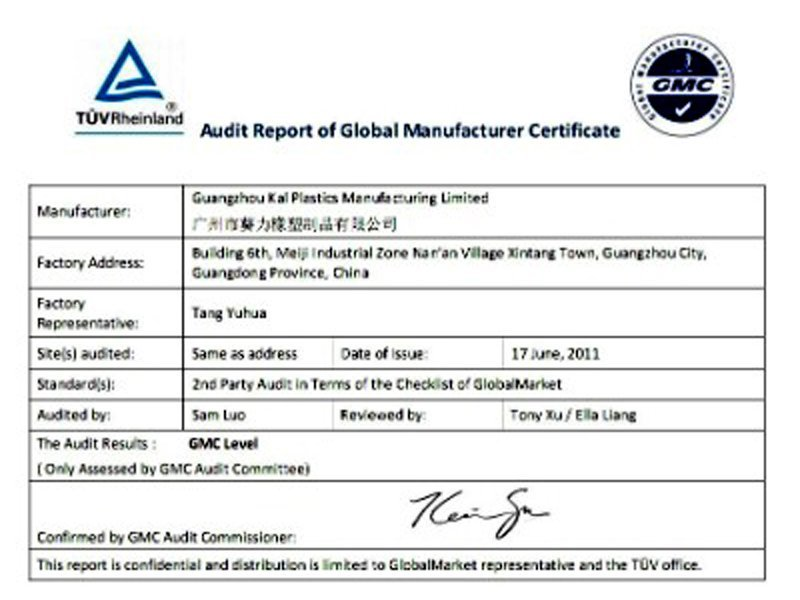 TUV-Audit-Report-of-Global-Manufacturer-Certificate