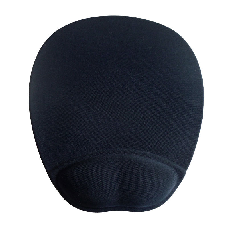 Black Round Gel Mouse Pad with Wrist Support,Large Mousing Area Round Large Mousing Area Non Slip Base Great for stable