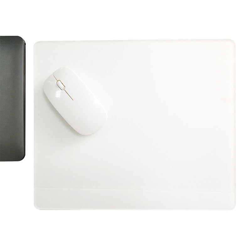 Acrylic Pad Acrylic Mouse Pad Surface for Fast and Accurate Control (White and light blue)