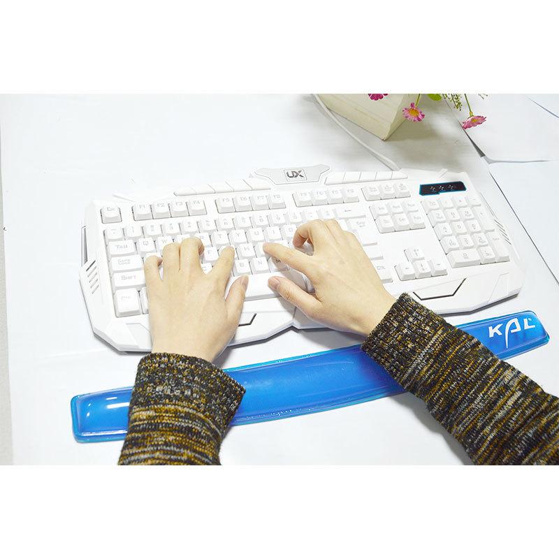 Soft Silicone Keyboard Wrist Rest Support Pad, Transparent Anti-slip Anti-Fatigue Keyboard Wrist
