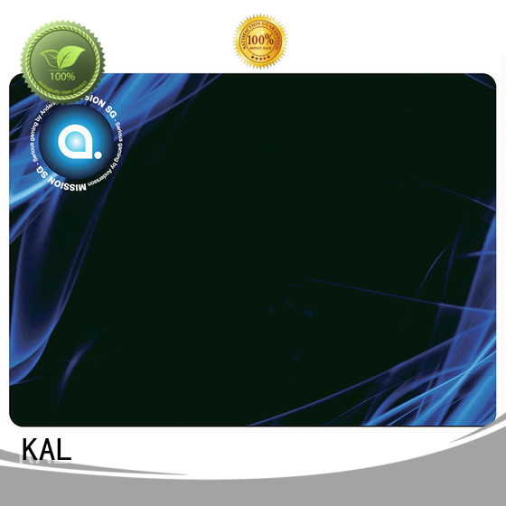 KAL Brand gaming silicone based rubber hard mouse mat abs