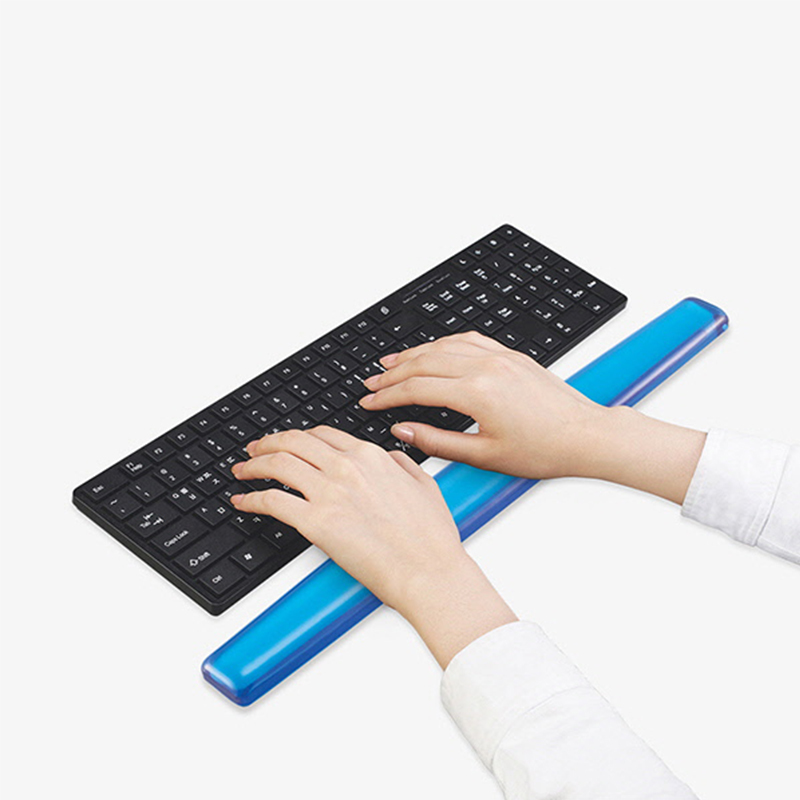 Blue transparent keyboard wrist support office and home keyboard rest pad
