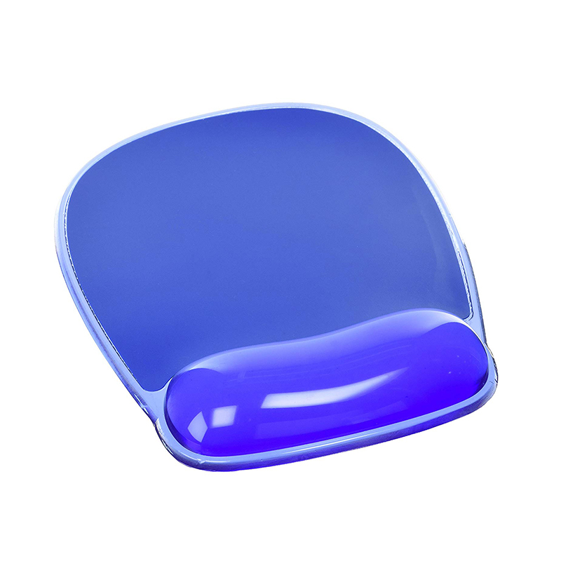 Transparent soft gel mouse pad with hand support, Jelly wrist rest mouse pad, PVC mouse pad china manufacture
