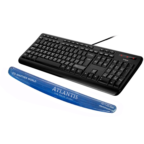 Deformation free transparent keyboard pad stands still while typing provides you with ease and comfort