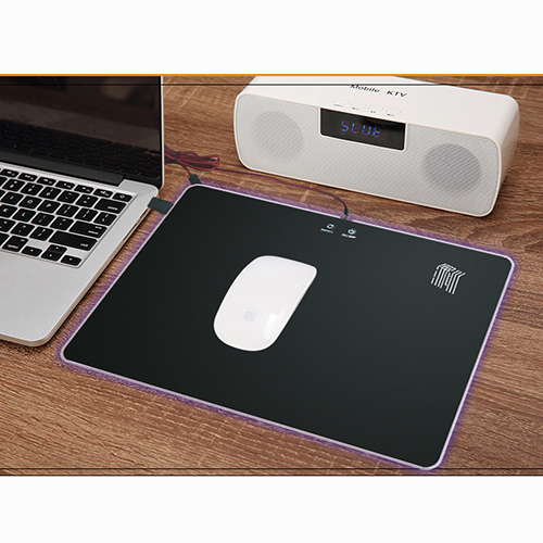 Acrylic LED gaming mouse pad hard RGB gaming mouse pad with rubber base
