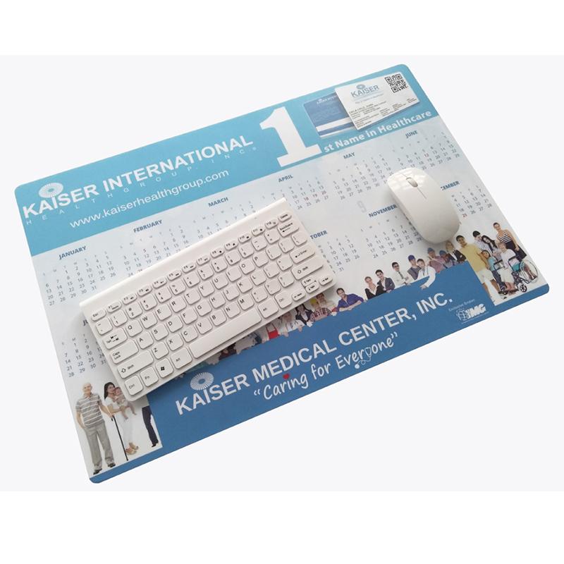 2019 Calendar desk mat PVC top with EVA bottom promotion mouse pad
