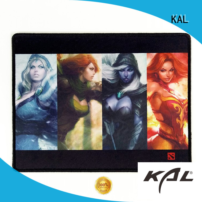 premium textured stitched rubber mouse pad KAL manufacture