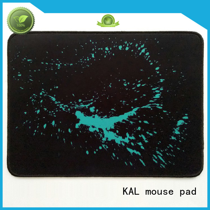 KAL Brand stitched diabolik rubber mouse pad edges supplier