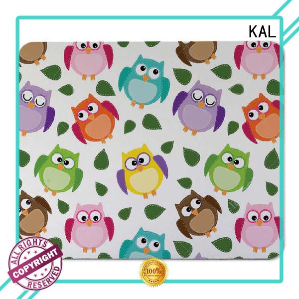 KAL Brand gel backing fabric custom mouse mats