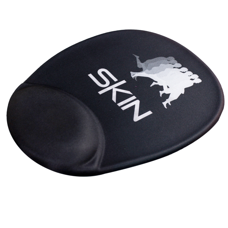 Sublimation printing mouse pad with hand support & PU base
