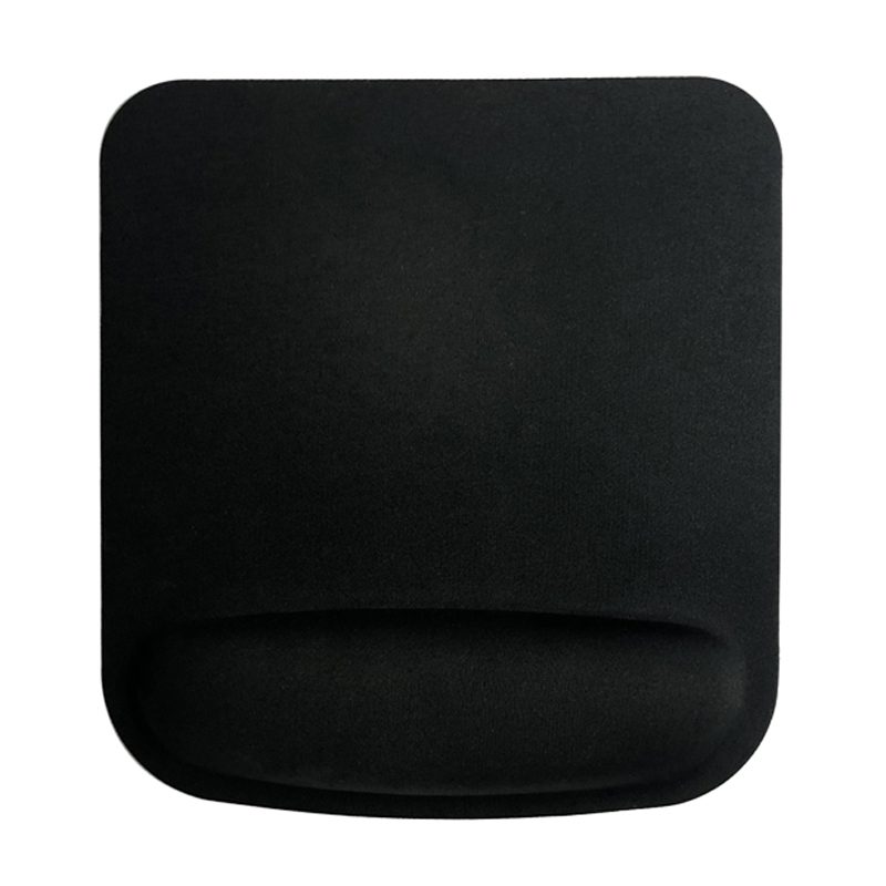 Black Blank Ergonomic Mouse Pad With Foam Wrist Rest Mouse Pad Manufacturer