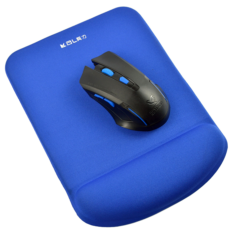 Blue Cloth Gel Mouse Pad With Wrist Rest Anti-slip Big Size Custom Logo Mouse Pad Manufacturer