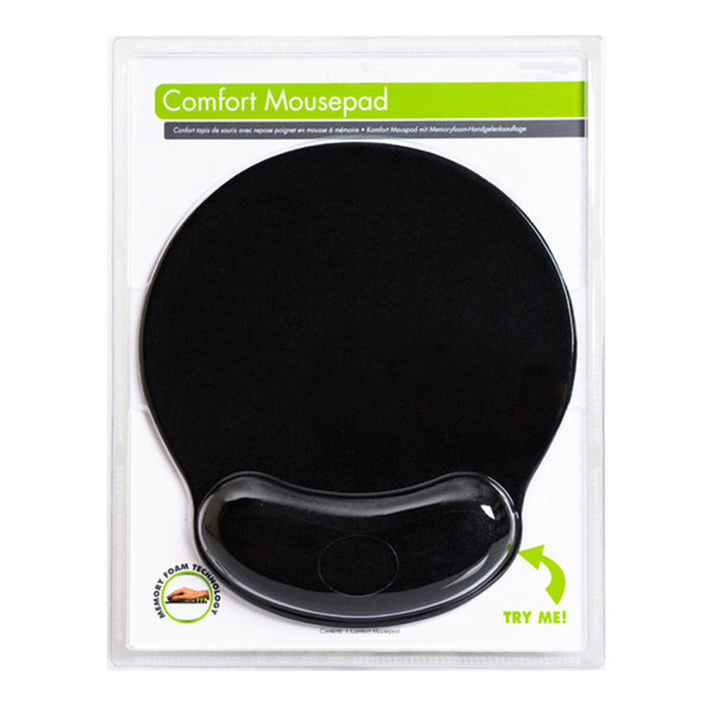 KAL  Ergonomic Cloth Foldable Memory Foam Mouse Pad With Wrist Rest Custom Logo Memory Foam image2