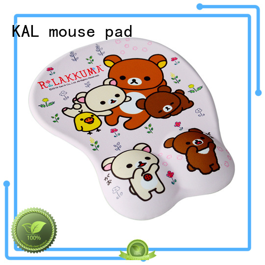 comfort cushion soft silica KAL Brand laptop mouse pad supplier